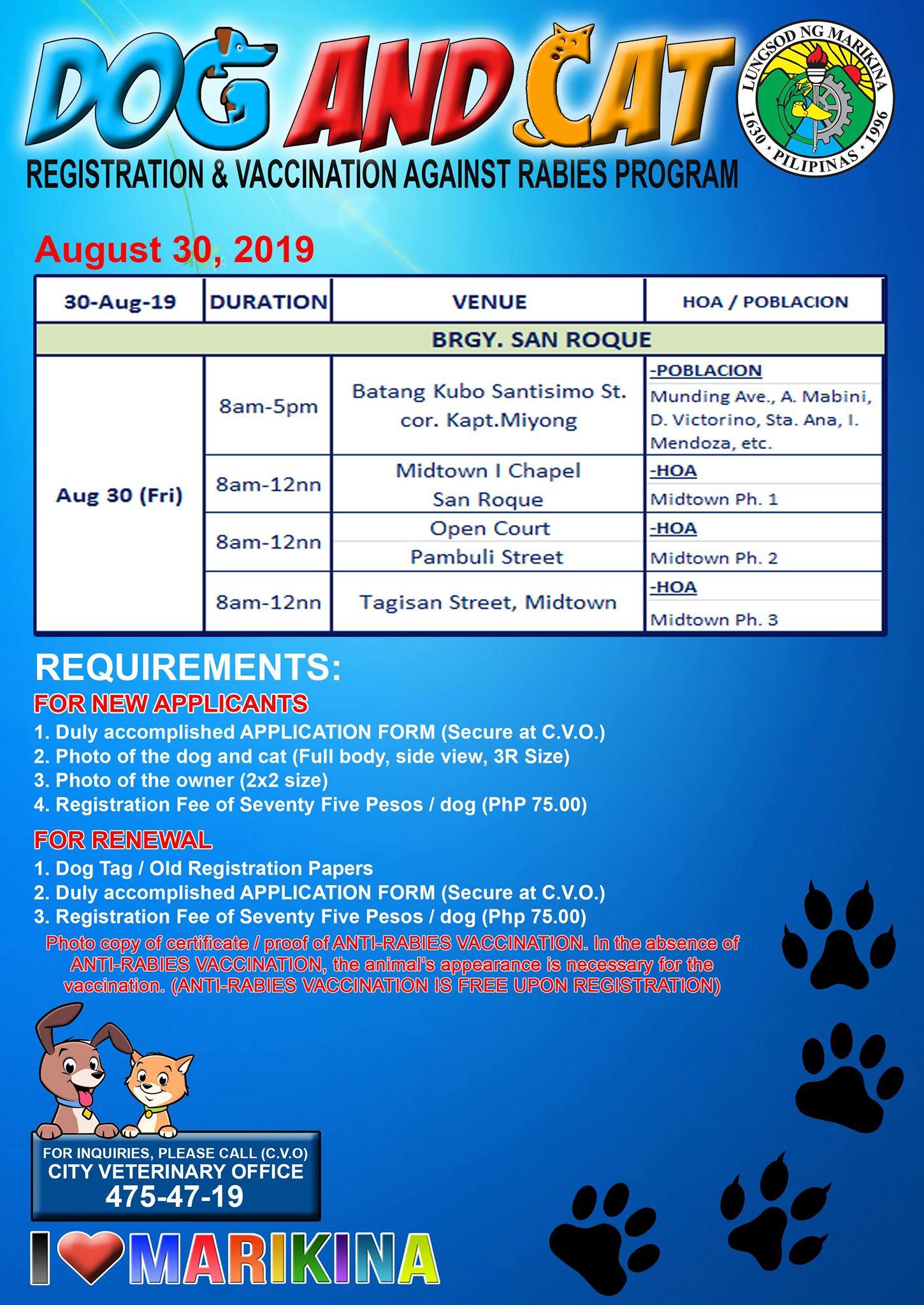 Marikina Pet Registration Schedule